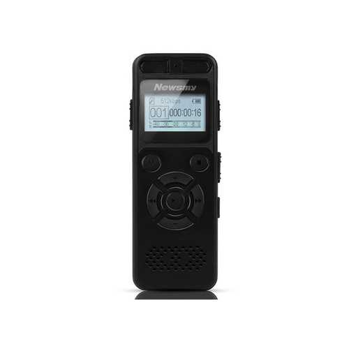 Newsmy RV29 8GB 1536KBPS PCM Dual Microphone 138 Hour A to B Repeat Voice Recorder