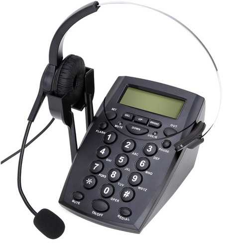 HT500 Headset Telephone Desk Phone Headphones Hands-free Call Center Noise Cancellation Monaural