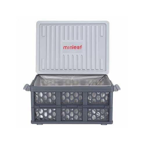 28L Car Foldable Plastic Storage Box Organizer Box with Waterproof Bag & Warning Sign Water Bucket