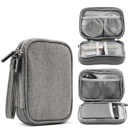 Double Layer Travel Digital Accessories Storage Bag