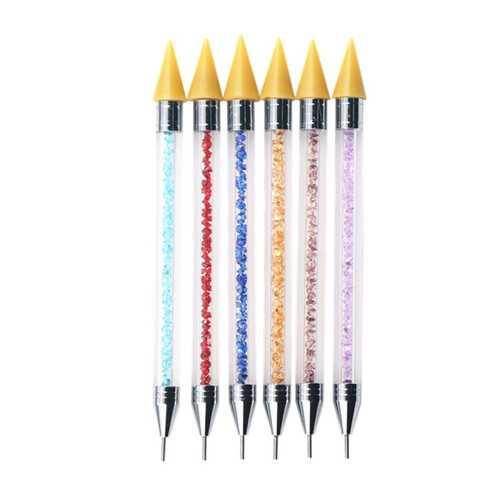 Dual-headed Nail Rhinestone Picker Wax Pen Manicure Tools