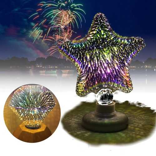 E27 3W 3D Star Flat Diamond Fireworks LED Decorative Light Bulb for Party Christmas AC220V