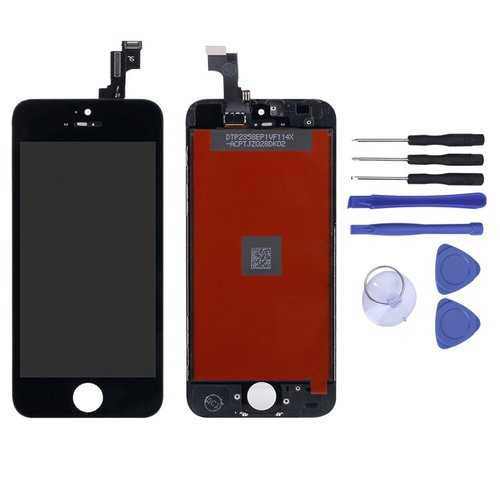 Full Assembly LCD Display+Touch Screen Digitizer Replacement With Repair Tools For iPhone 5S