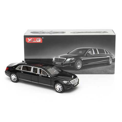 1:32 S600 Limousine Diecast Metal Car Model 20.5 x 7.5 x 5cm Car in Box Black