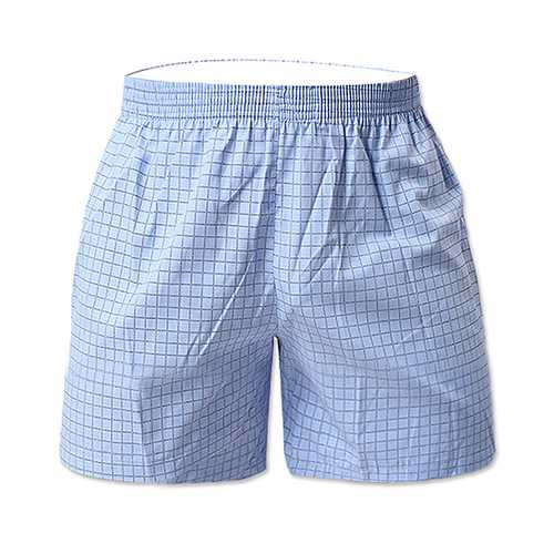 Cotton Plaid Loose Leisure Home Beach Board Boxer Shorts
