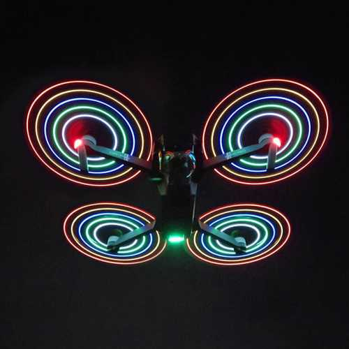 2Pcs 8311 Low-Noise Quick-Release LED Flash Propellers For DJI Mavic Pro / Platinum