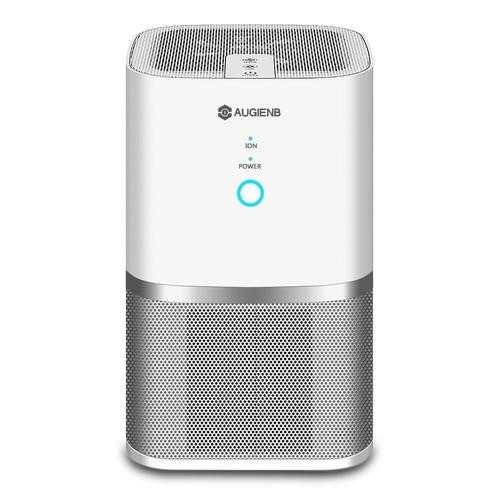 AUGIENB A-DST01 Desktop Air Purifier Active Carbon Filter Dust Active Ozone Generator Sterilizer Control Smoke Clean Household Appliances with True HEPA