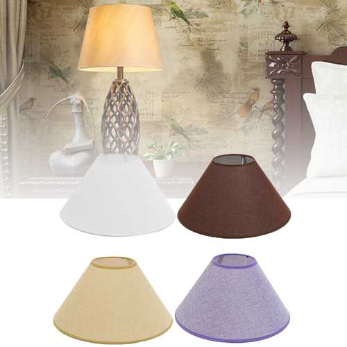 13*36*18CM Ceiling Lamp Shade Cotton Textured Fabric PVC Linen Room Table Lampshape