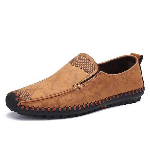 Bnaggood Shoes Men Soft Sole Slip On Oxfords
