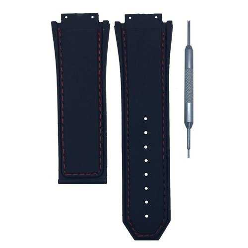 30mm Black Rubber Watch Band Strap For Watch Spring Bar Tool Man Gift