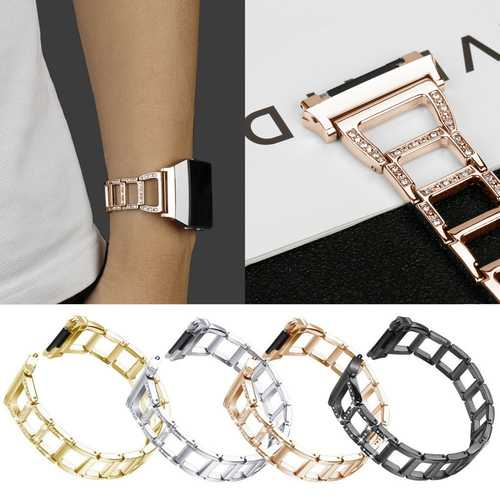 Replacement Bracelet Bangle Strap Metal Watch Wrist Band For Fitbit Ionic