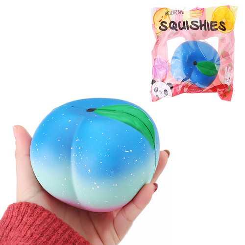 IKUURANI Squishy Peach 10.5CM Super Slow Rising Cream Scented Original Package Phone Strap Toy