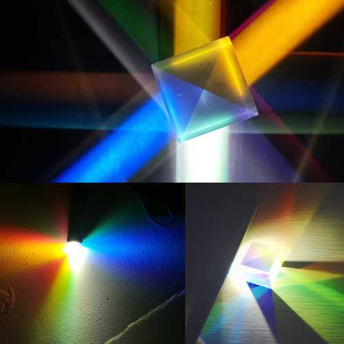 20x20mm K9 Color Combination Prism Square Cube RGB Teaching Tools Decoration