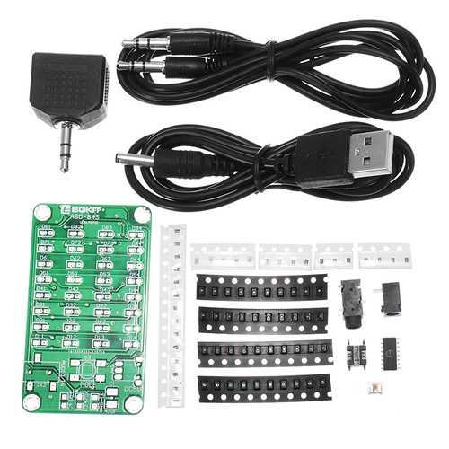 10Pcs 8*4 Level Indicator Kit SMD Soldering Practice Board Audio Spectrum Indicator Electronic Production Parts