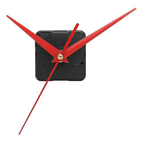 20mm Shaft Length DIY Red Triangle Hands Silent Quartz Wall Clock Movement Mechanism For Replacement