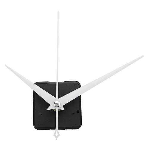 20mm Shaft Length DIY White Triangle Hands Silent Quartz Wall Clock Movement Mechanism Repair Parts