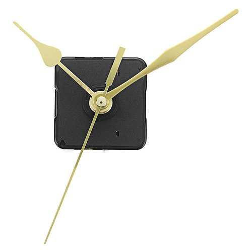 20mm Shaft Length Gold Hands Quartz Wall Clock Silent Movement Mechanism Repair Parts