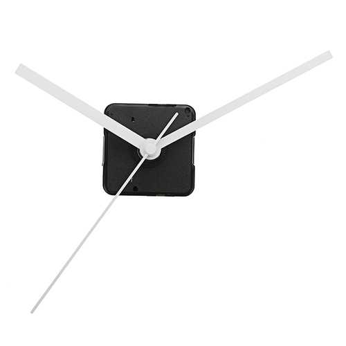 20mm Shaft DIY White Hands Quartz Movement Silent Mechanism Wall Clock Repair Parts