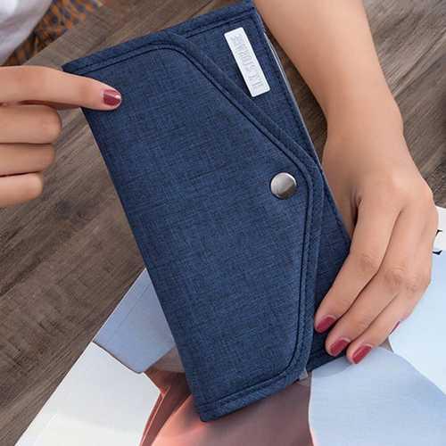 Men Women Phone Zipper Pocket 6 Slots Oxford Fashion Wallet