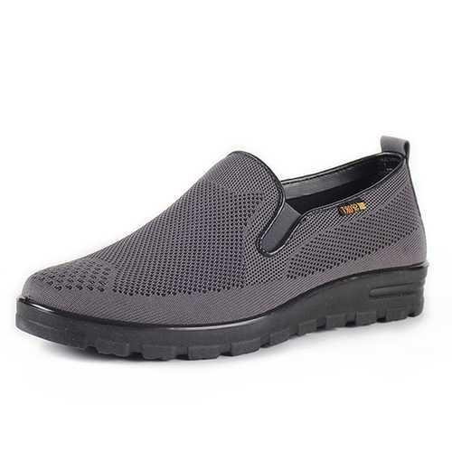 Banggood Shoes Men Breathable Mesh Cloth Oxfords