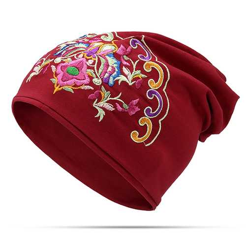 Cotton Ethnic Slouch Beanie Printting Turban Cap