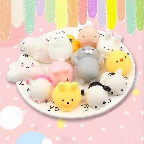 25 PCS Random Squishy Lot Slow Rising Kawaii Cute Animal Squeeze Hand Toy
