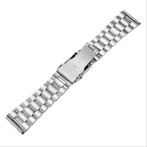 18/20/22/24mm Rplacement Stainless Steel Men Watch Band Strap Double Lock Flip Bracelet