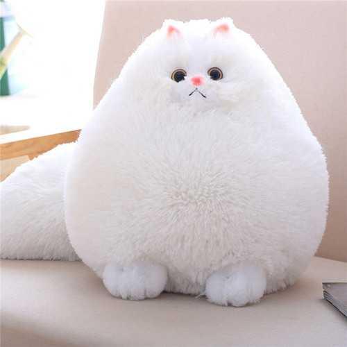 Cute Stuffed White Persian Cat Dolls Soft Plush Animal Toy Kids Children