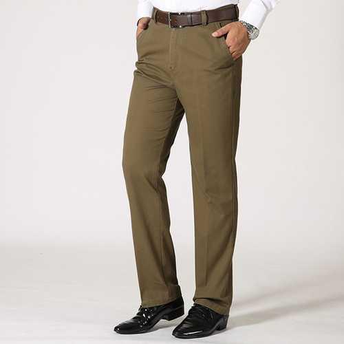 Mens Business Cotton Breathable Suit Pants