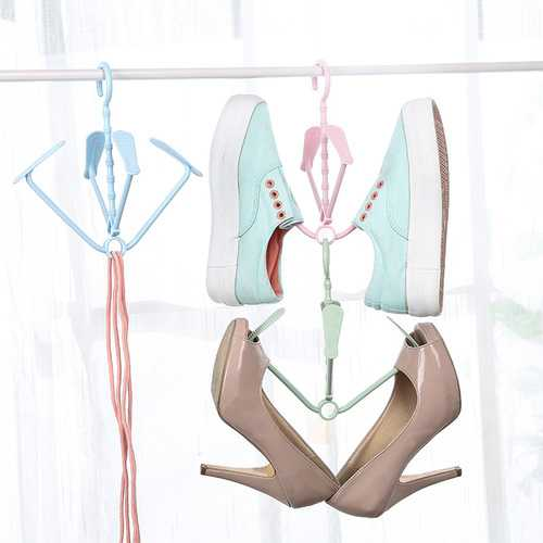 Creative Plastic Drying Shoe Rack 360 Degree Rotation Drying Hanger Rack Clothes Socks Hanger