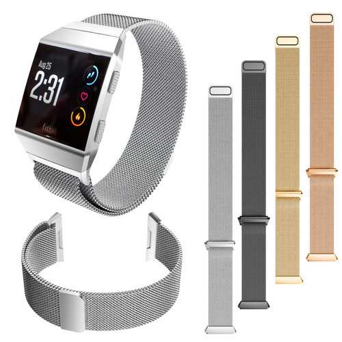 Milanese Stainless Steel Smart Watch Band Replacement Strap For Fitbit Ionic