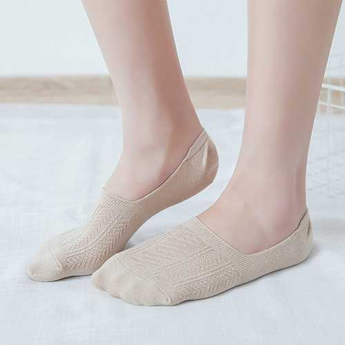 Lady Girls Cotton Soft Elastic Invisible Boat Socks