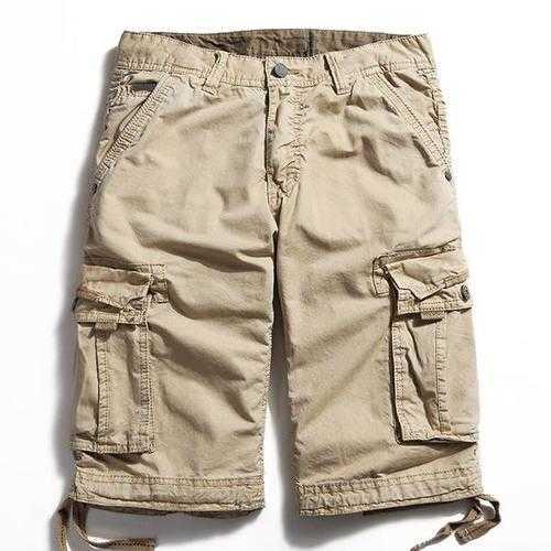 Outdoor Large Size Pure Cotton Washing Cargo Shorts
