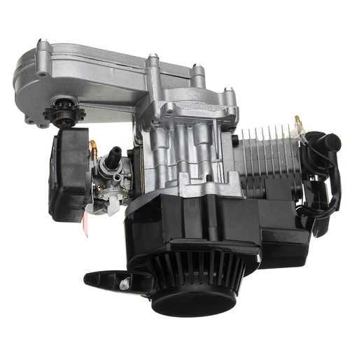 49cc 2-Stroke Pull Start Motor Engine with Transmission For Mini Pocket Bike ATV Scooter