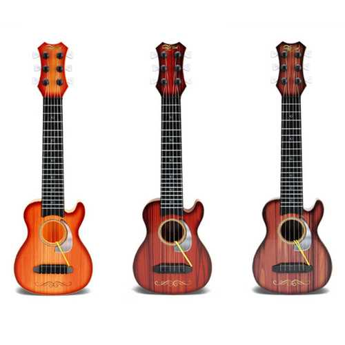 6 Strings Random Color Plastic Ukulele Uke Musical Instrument Toy for Children Gift