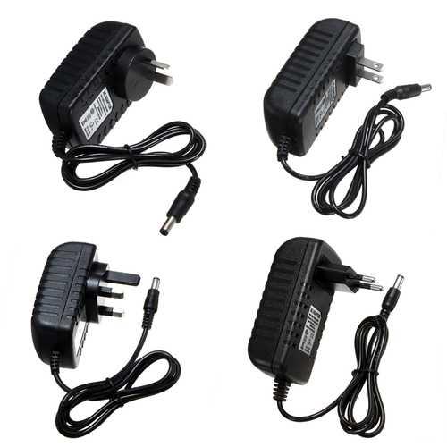 AC100-240V to DC12V 3A 36W EU US UK AU Plug Power Supply Adapter for LED Strip Light 5.5*2.1mm