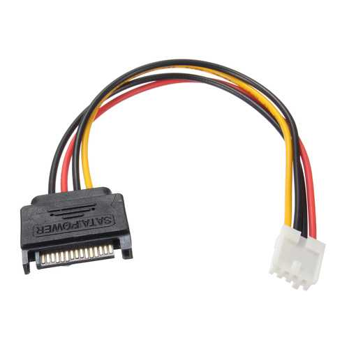 20cm Small 4Pin Female to 15Pin Male SATA Power Cable