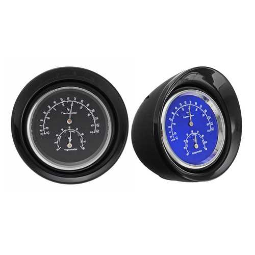 ABS Bullet Design Car Mini Mechanical Thermometer Hygrometer Digital Pointer Dashboard Ornament