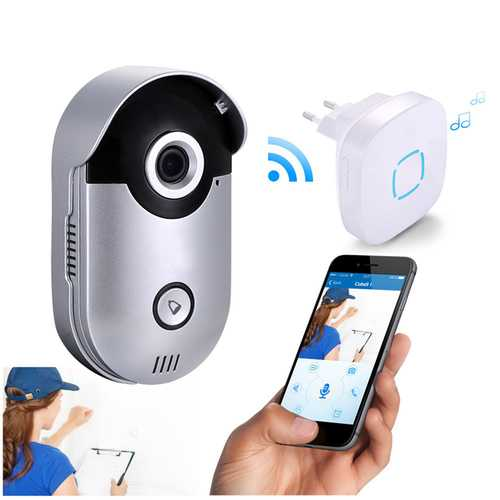 720P WiFi Video Door Phone Intercom HD Wireless Doorbell IR Night Vision Motion Detection