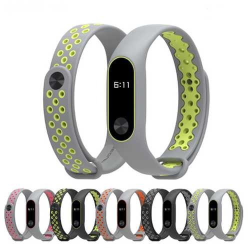 Mijobs Colorful Strap Sport Silicone Replacement Bracelet for  Xiaomi MiBand 2