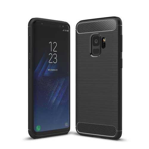 Bakeey Carbon Fiber Texture Anti Fingerprint Soft TPU Case For Samsung Galaxy S9