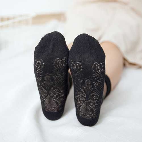 Ladies Deodorization Lace Cottton Ankle Socks