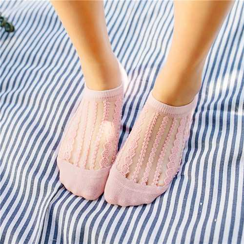 Lace Breathable Ankle Socks Invisible No Show Sock