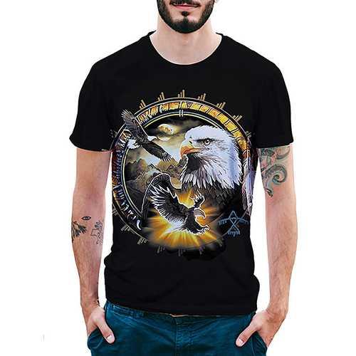 Eagle Pattern 3D Printed T-Shirts