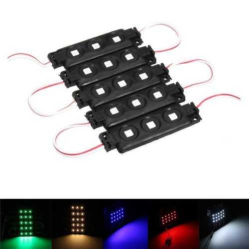 5PCS SMD5050 Waterproof RGB 3LEDs AD Module Colorful Decorative Strip Light DC12V