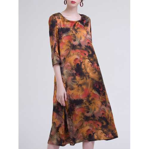 Abstract Printing Dress