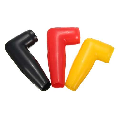 Electric Guard Motor Winch Cable Terminal Boot Black/Yellow/Red Rubber Cover