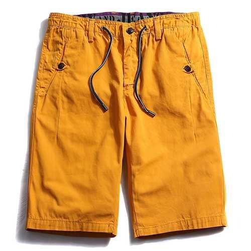 Summer Men's 100% Cotton Cargo Shorts