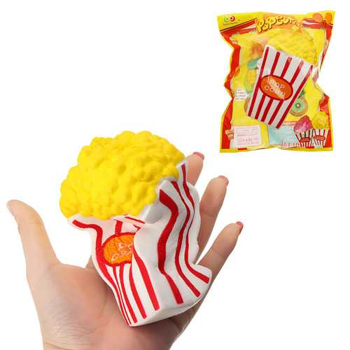 Sunny Popcorn Squishy 15CM Slow Rising With Packaging Cute Jumbo Soft Squeeze Strap Scented Toy