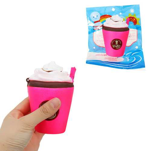 Milk Tea Ice Cream Cup Squishy 11CM Slow Rising With Packaging Coffee Cappuccino Collection Gift